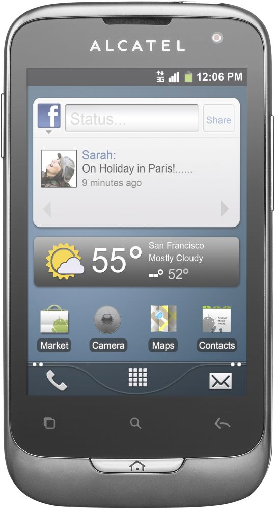 Смартфон Alcatel ONE TOUCH 985D (черный)