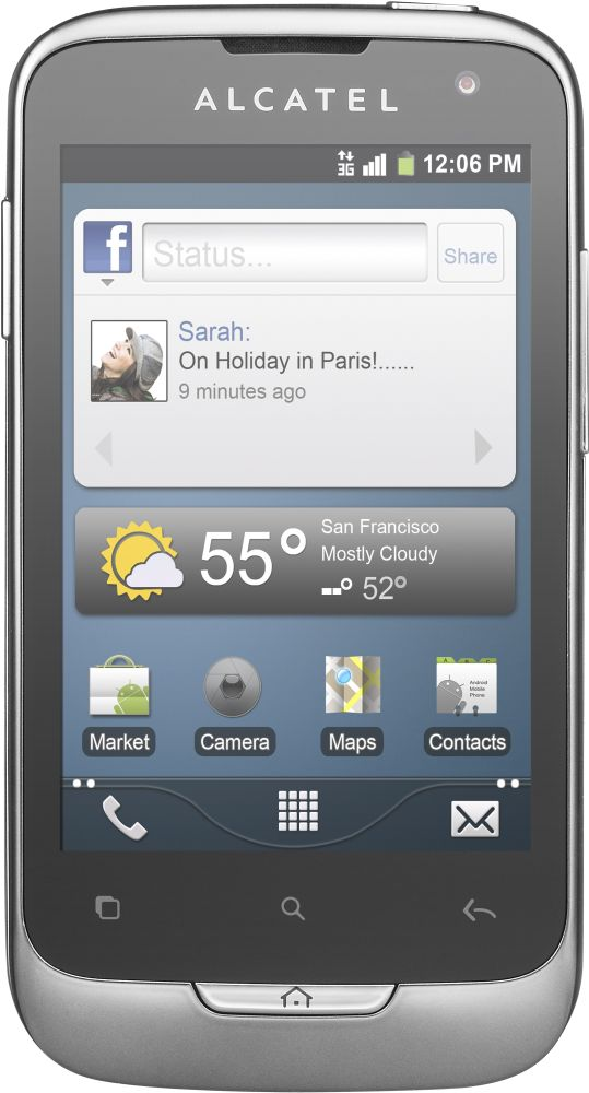 Смартфон Alcatel ONE TOUCH 985D (белый)